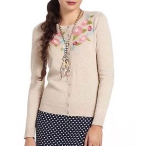 Anthropologie Tabitha felted floral cardigan